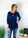 My Love Babydoll Top - Navy