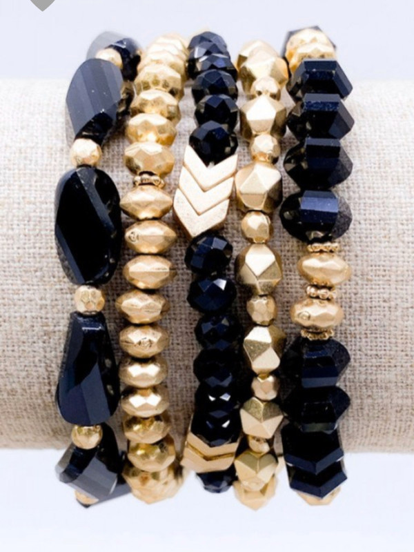 Sandra Bracelet Set - Black
