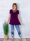 Basic Criss Cross Top - Purple