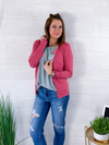 Spring Layers Cardigan - Rose