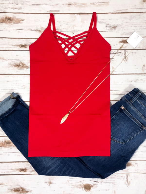 Criss Cross Cami - Red