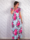 Sing Me A Song Maxi Dress - Aqua Mint