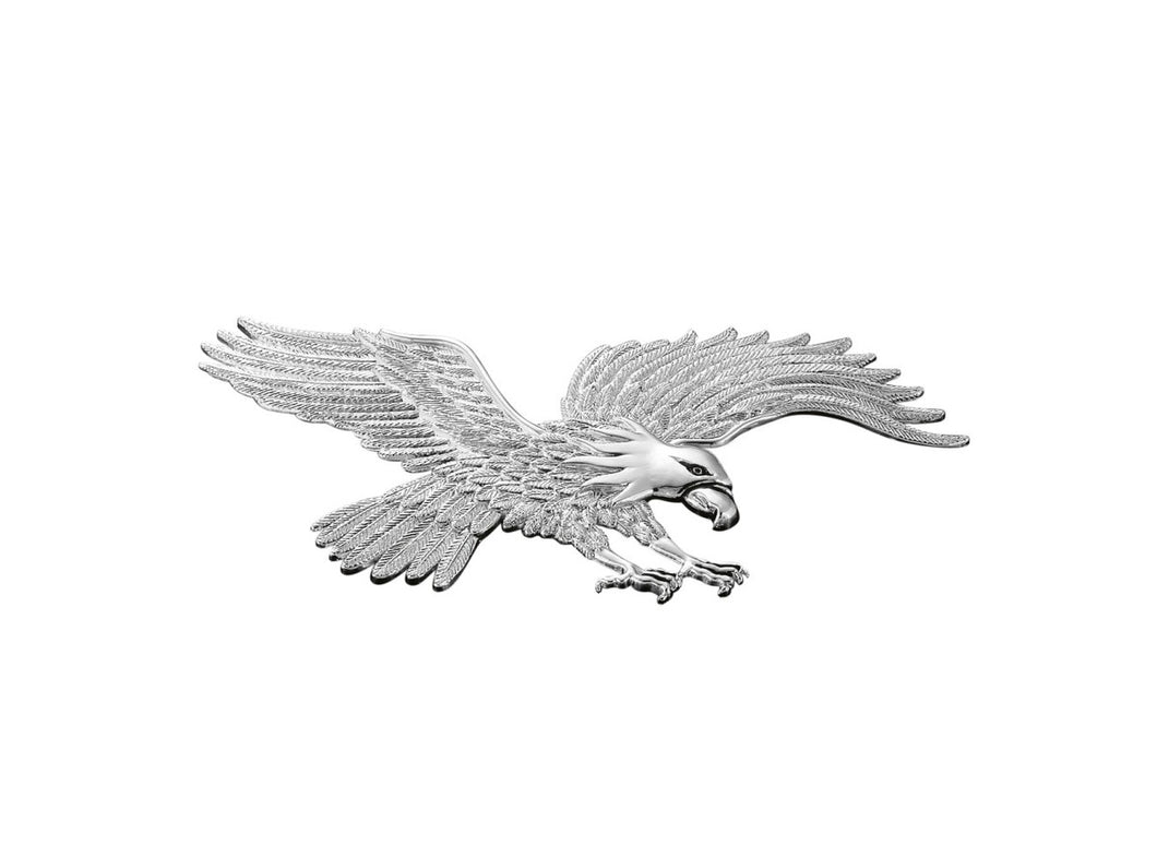 large chrome american eagle hawk motorcycle motorbike emblem