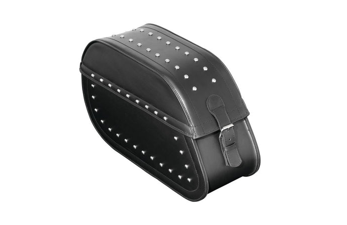 saddlebags with lock studs
