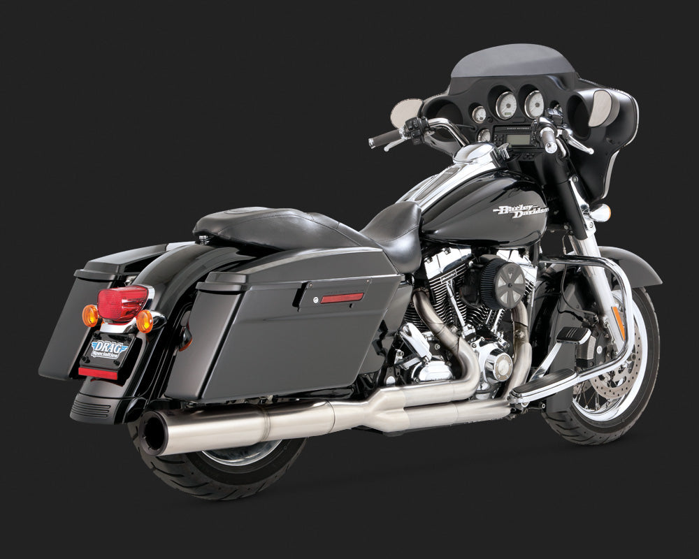 Vance & Hines Hi-Output 2-into-1 Exhaust Stainless Steel 09-16 Touring
