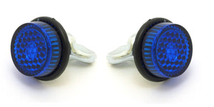 Pair (2) Reflectors, Reflective Mounting Bolts - Blue