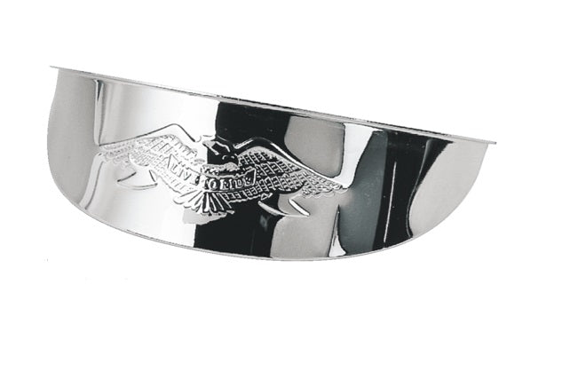 Chrome Plated Steel Live To Ride Eagle Visor for 7