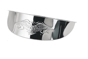 "Chrome Plated Steel Live To Ride Eagle Visor for 5.75"" Motorcycle Headlight"