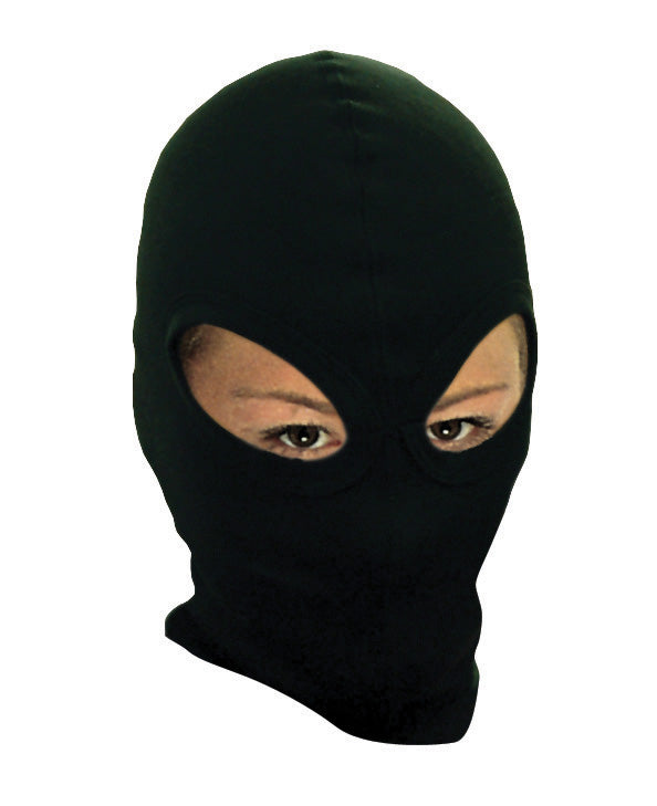Thermal Cotton Double 2 Eye Black Balaclava Under Helmet Protection