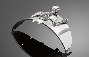 Skeleton Skull Chrome Statue  Fender/Visor Ornament - S