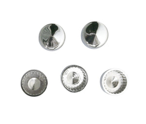 Chrome Hexagon Head 10mm Bolt Covers (M10) uses 14mm Spanner