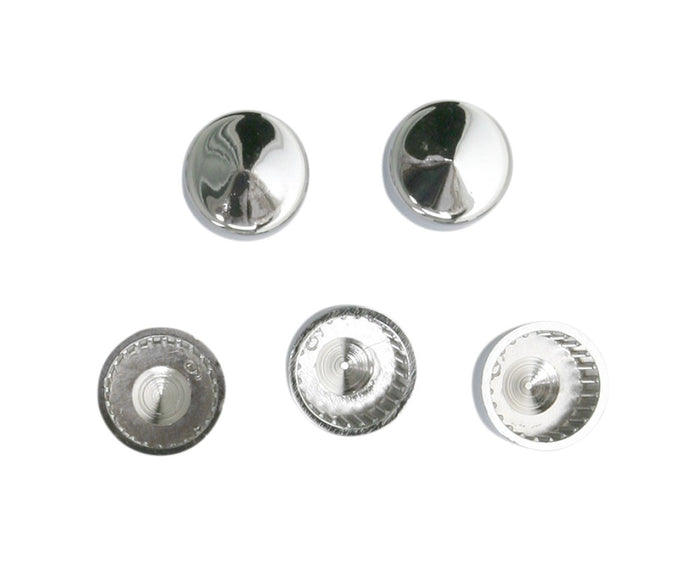 Chrome Hexagon Head 6mm Bolt Covers (M6) uses 10mm Spanner