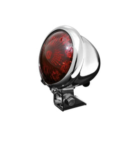 Old School Retro Style Rear LED Tail Light Motorcycle/Trike - Chrome