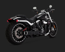 Load image into Gallery viewer, Vance & Hines Hi-Output 2-into-1 Exhaust Black 1986-2017 Softail