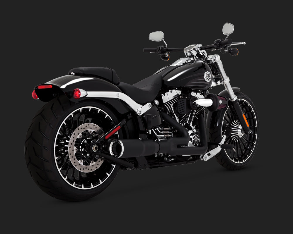 Vance & Hines Hi-Output 2-into-1 Exhaust Black 1986-2017 Softail