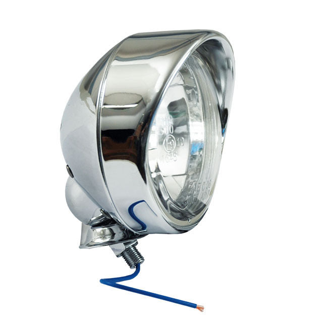 Chrome Spotlight Spot Light With Visor E- Marked 4