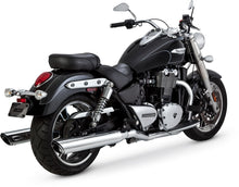 Load image into Gallery viewer, Vance & Hines Twin Slash Duals Exhaust 15-16 Triumph Thunderbird LT/Commander