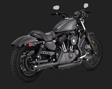 vance hines twin slash 3 inch slip on exhaust black 2004 2013 sportster