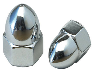 Pair Chrome 6mm Acorn Nuts for Metric Motorcycles M6