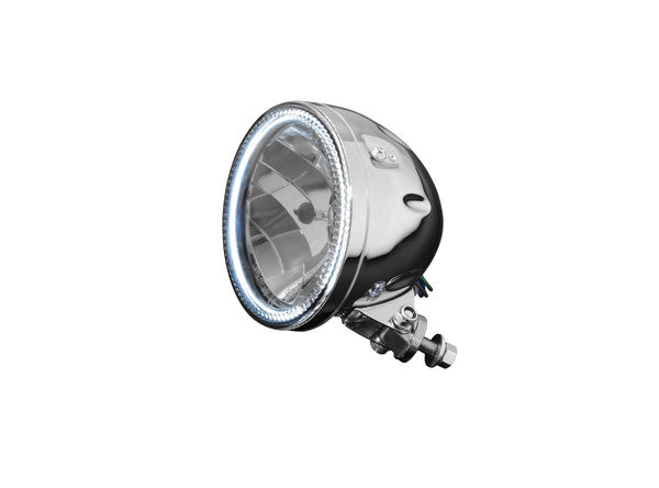 distinctive chrome headlight 5.75 inch with led halo ring e mark