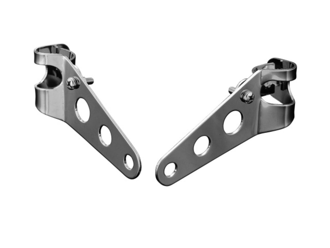 chrome fork brackets for side mount headlight fairings 32 37mm forks