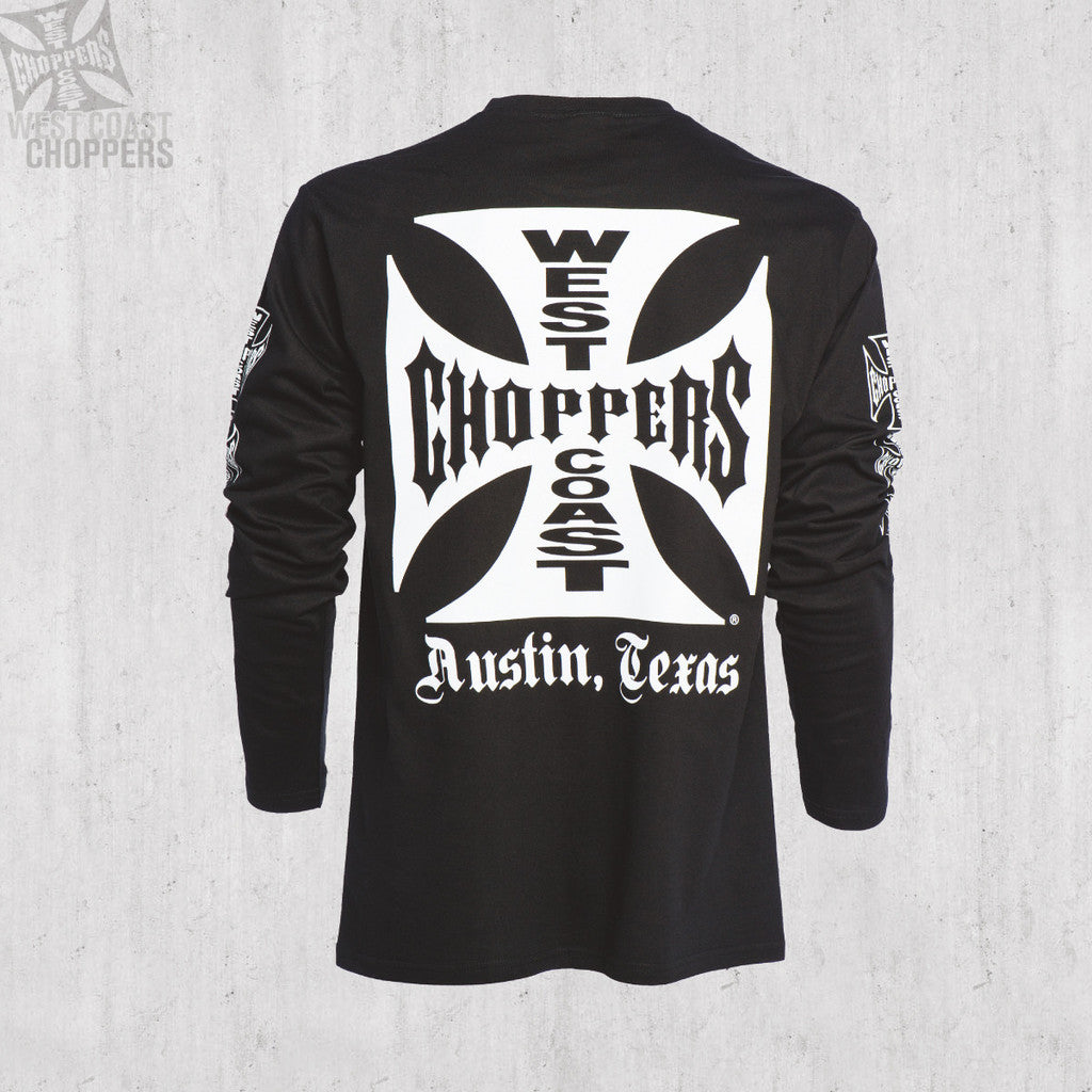 jesse james west coast choppers long sleeve t shirt black m