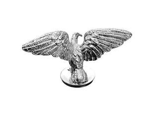 Open Wing Silver Eagle Chrome Statue Fender Mud Guard Ornament Mascot