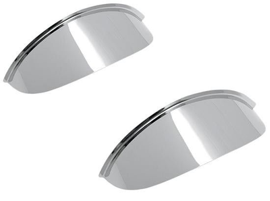 Plain Chrome Visors Peak for Motorcycle Spotlight - 4.5