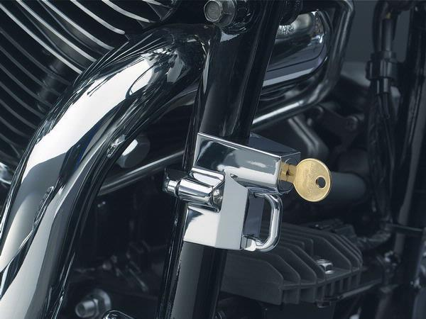 Kuryakyn Chrome Universal Helmet Lock Secures To Frame 22-32mm