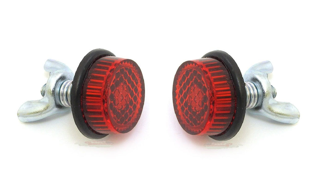 Licence/Number Plate Reflector Mounting Bolts (Pair) - Red