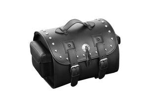 Real Leather Suitcase with Studs