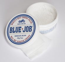blue job chrome polish lint free polishing cloth bigger 28g tub