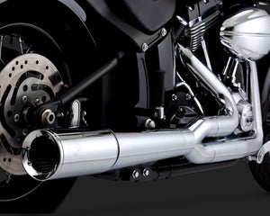 Vance & Hines Pro-Pipe 2-into-1 Exhaust Chrome 2012-2017 Softail