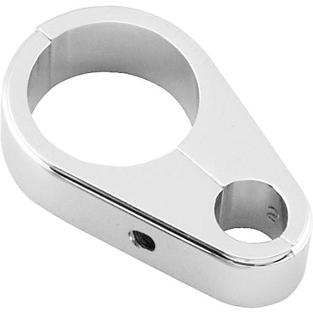 1 inch 25mm chrome clutch handlebar cable clamp holder