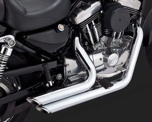 Vance & Hines Shortshots Staggered Exhaust Chrome 2004-2013 Sportster