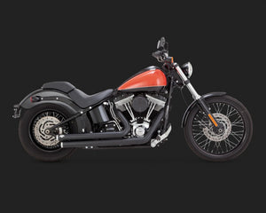 Vance & Hines Big Shots Staggered Exhaust Black 2006-2017 Dyna