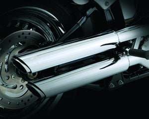 vance hines twin slash 3 inch slip on exhaust chrome 2014 2017 sportster