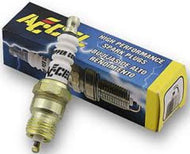 2 accel high performance spark plugs 2418 6r12 harley sportsters 86+