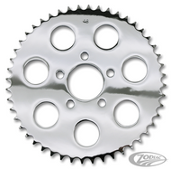harley 51 tooth chrome rear wheel sprocket for belt to chain conversion