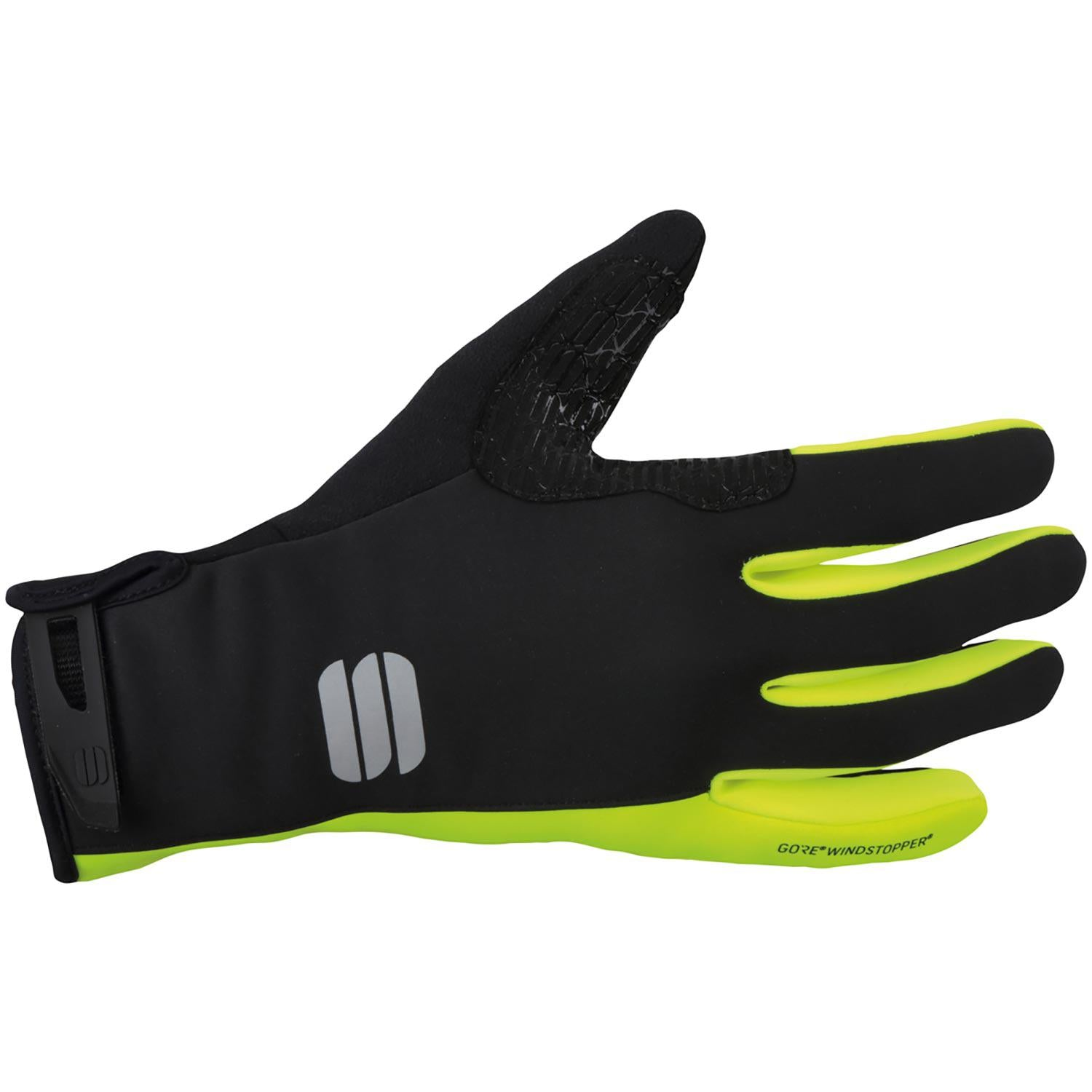 Sportful-Sportful WS Essential 2 Gloves-Black/Yellow Fluo-XS-SF019680911-saddleback-elite-performance-cycling