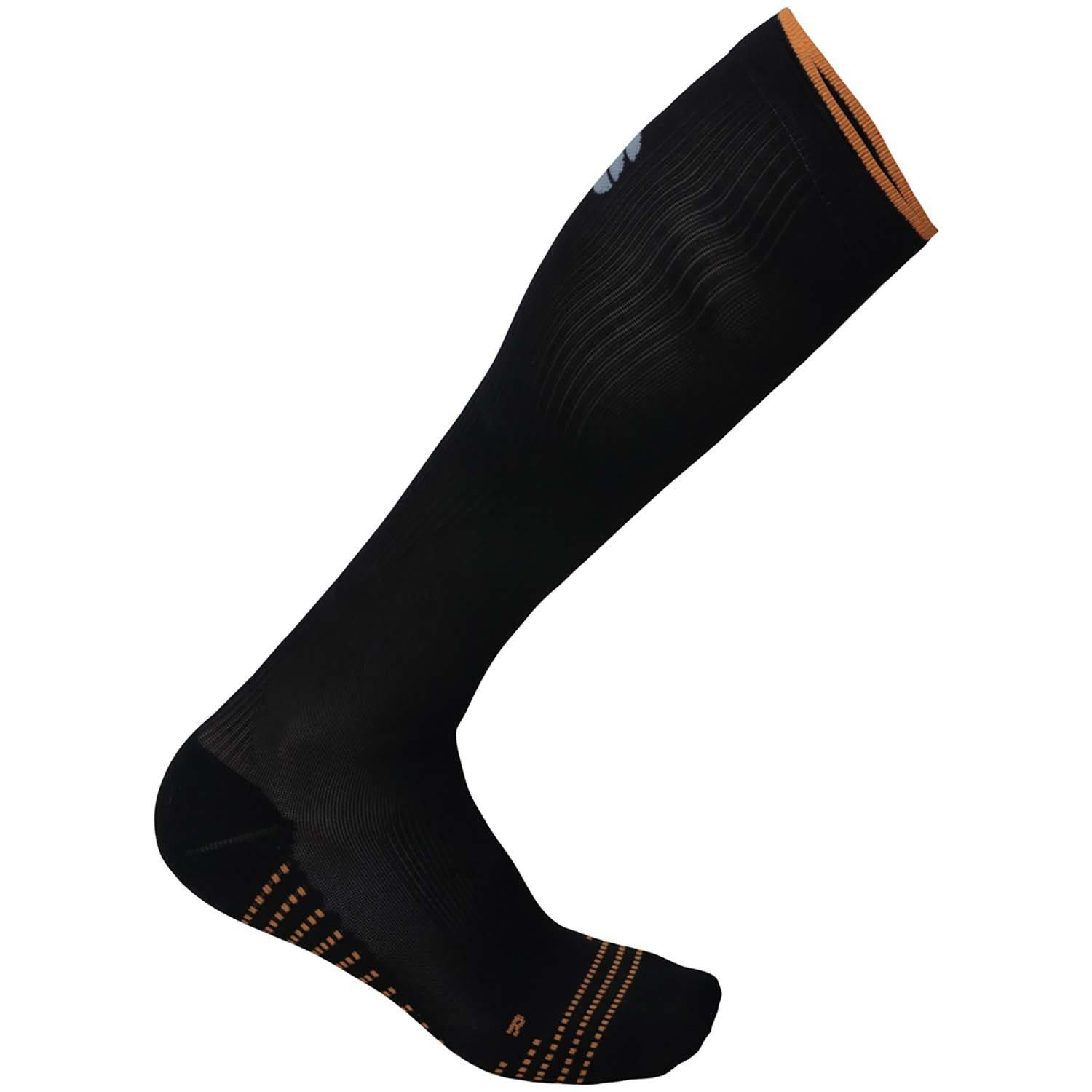 Sportful-Sportful Recovery Socks-Black/Orange SDR-S-SF020690022-saddleback-elite-performance-cycling