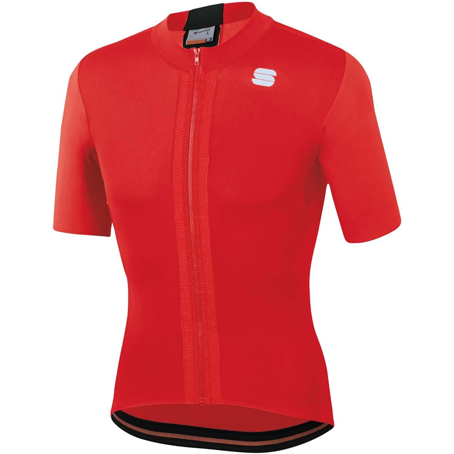 Sportful-Sportful Strike Jersey-Red/Black-XS-SF200125671-saddleback-elite-performance-cycling