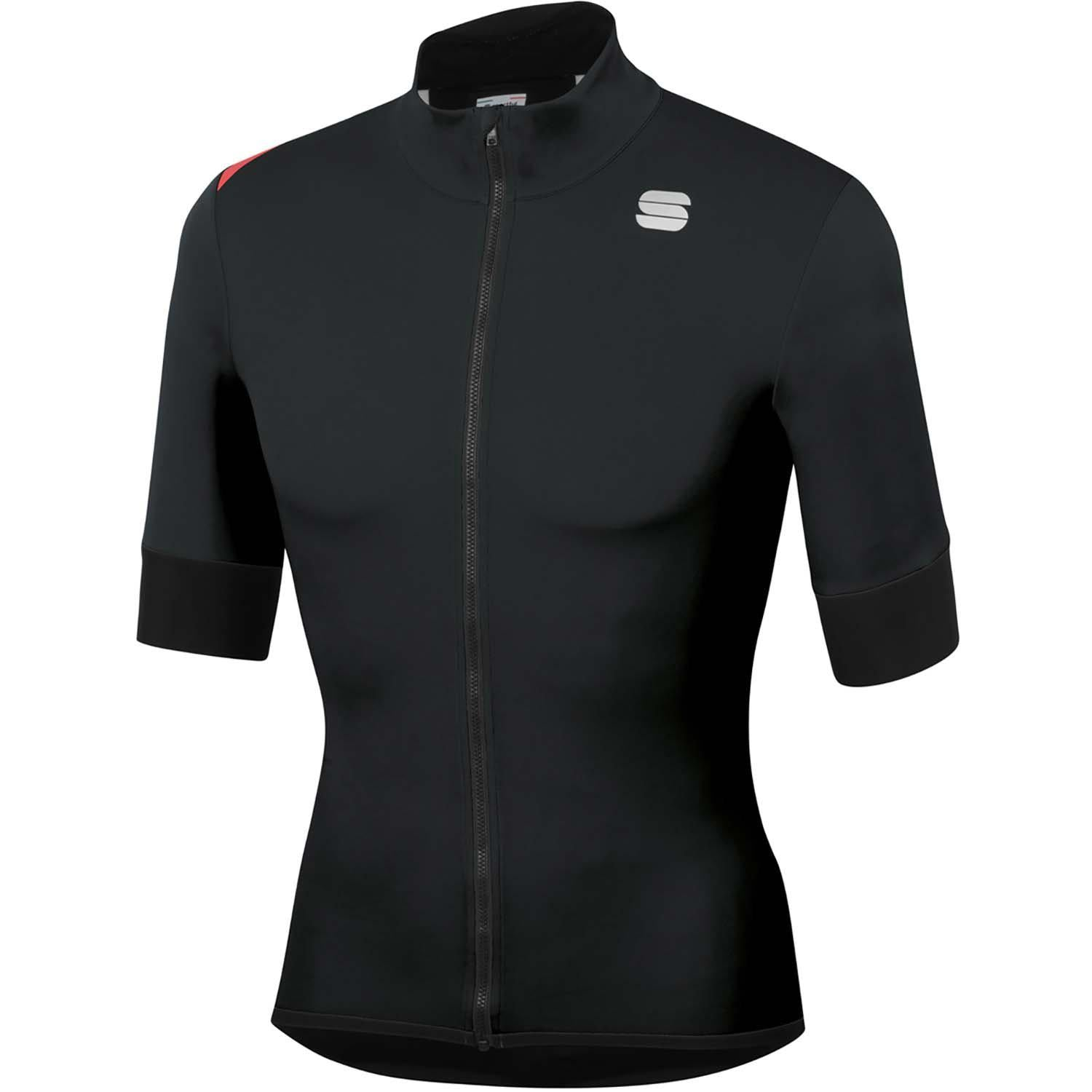 Sportful-Sportful Fiandre Light NoRain Short Sleeve Jacket-Black-S-SF200220022-saddleback-elite-performance-cycling