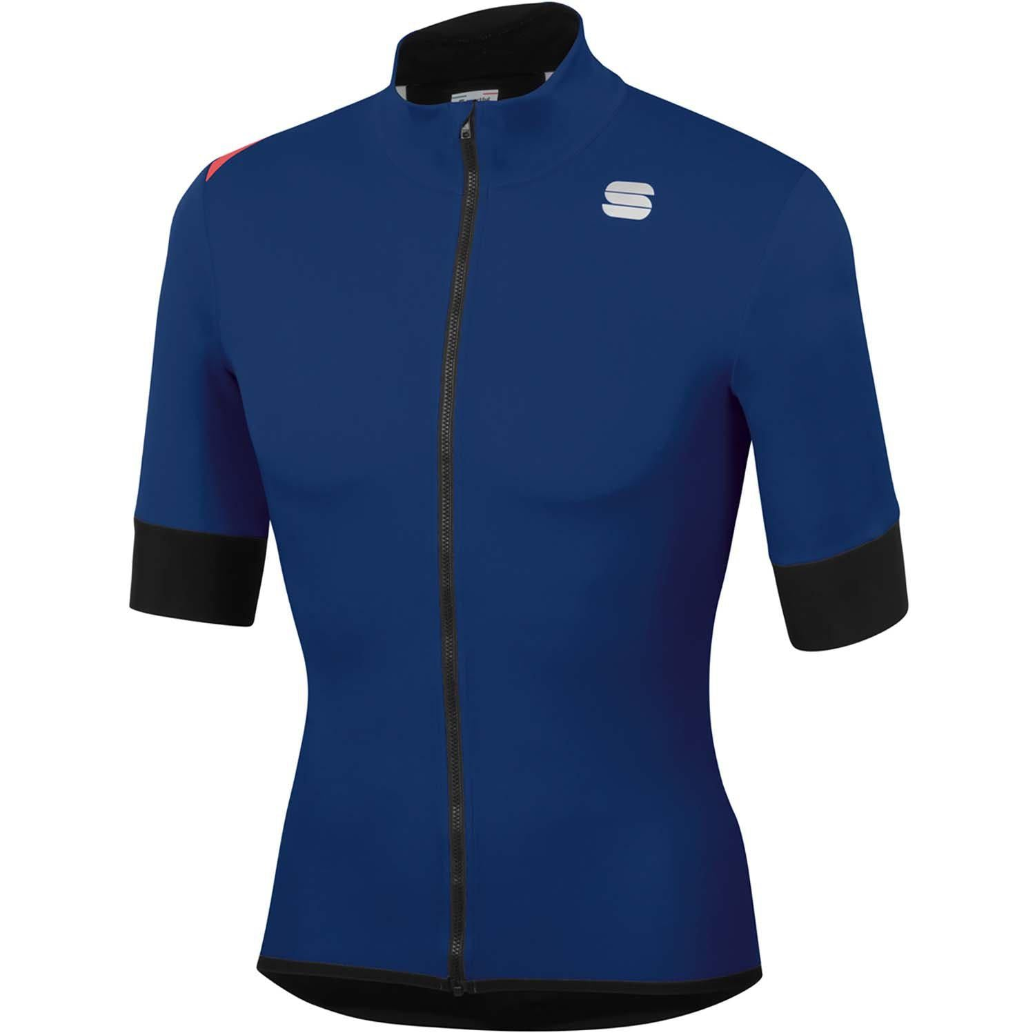 Sportful-Sportful Fiandre Light NoRain Short Sleeve Jacket-Blue Twilight-S-SF200224332-saddleback-elite-performance-cycling