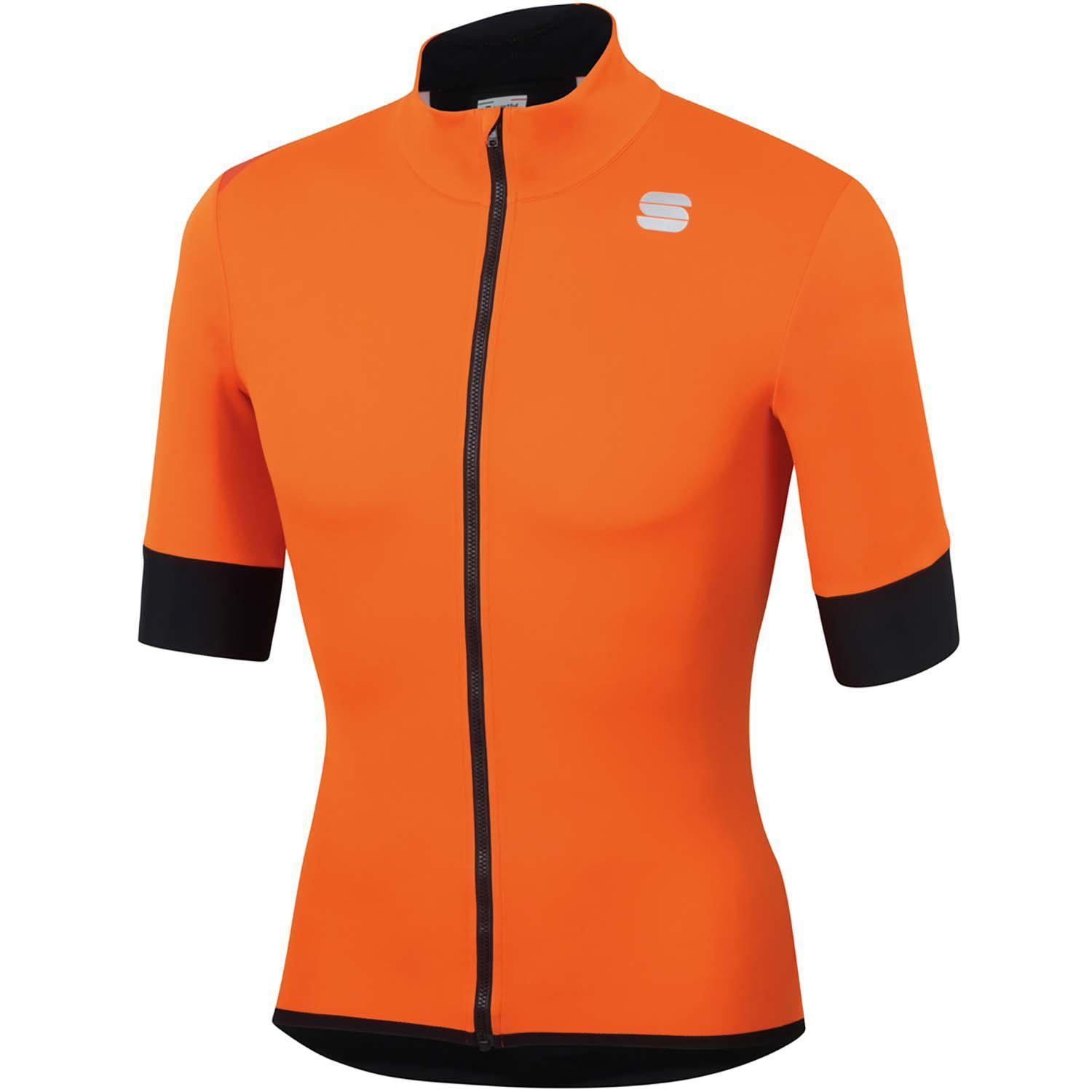 Sportful-Sportful Fiandre Light NoRain Short Sleeve Jacket-Orange SDR-S-SF200228502-saddleback-elite-performance-cycling