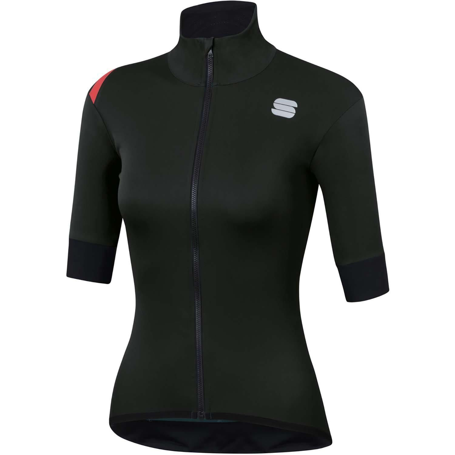 Sportful-Sportful Fiandre Light NoRain Women's Short Sleeve Jacket-Black-XS-SF200420021-saddleback-elite-performance-cycling