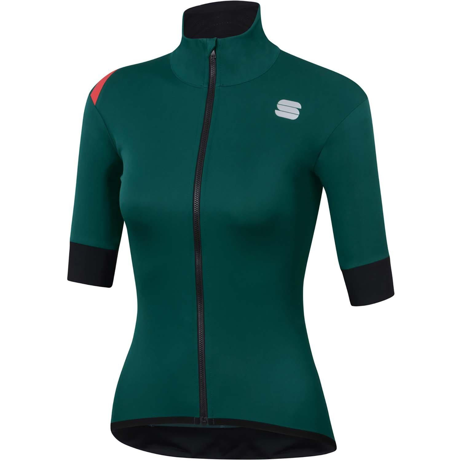 Sportful-Sportful Fiandre Light NoRain Women's Short Sleeve Jacket-Sea Moss-XS-SF200423291-saddleback-elite-performance-cycling