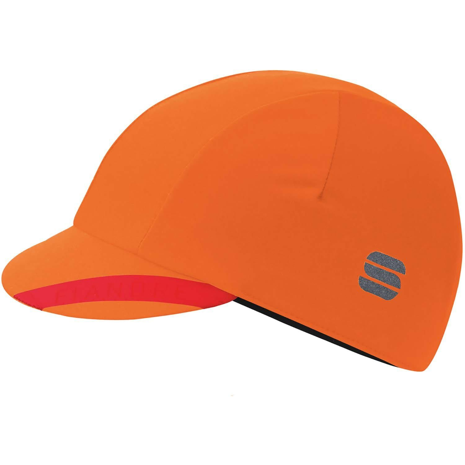 Sportful-Sportful Fiandre NoRain Cap-Orange SDR-UNI-SF200508508-saddleback-elite-performance-cycling