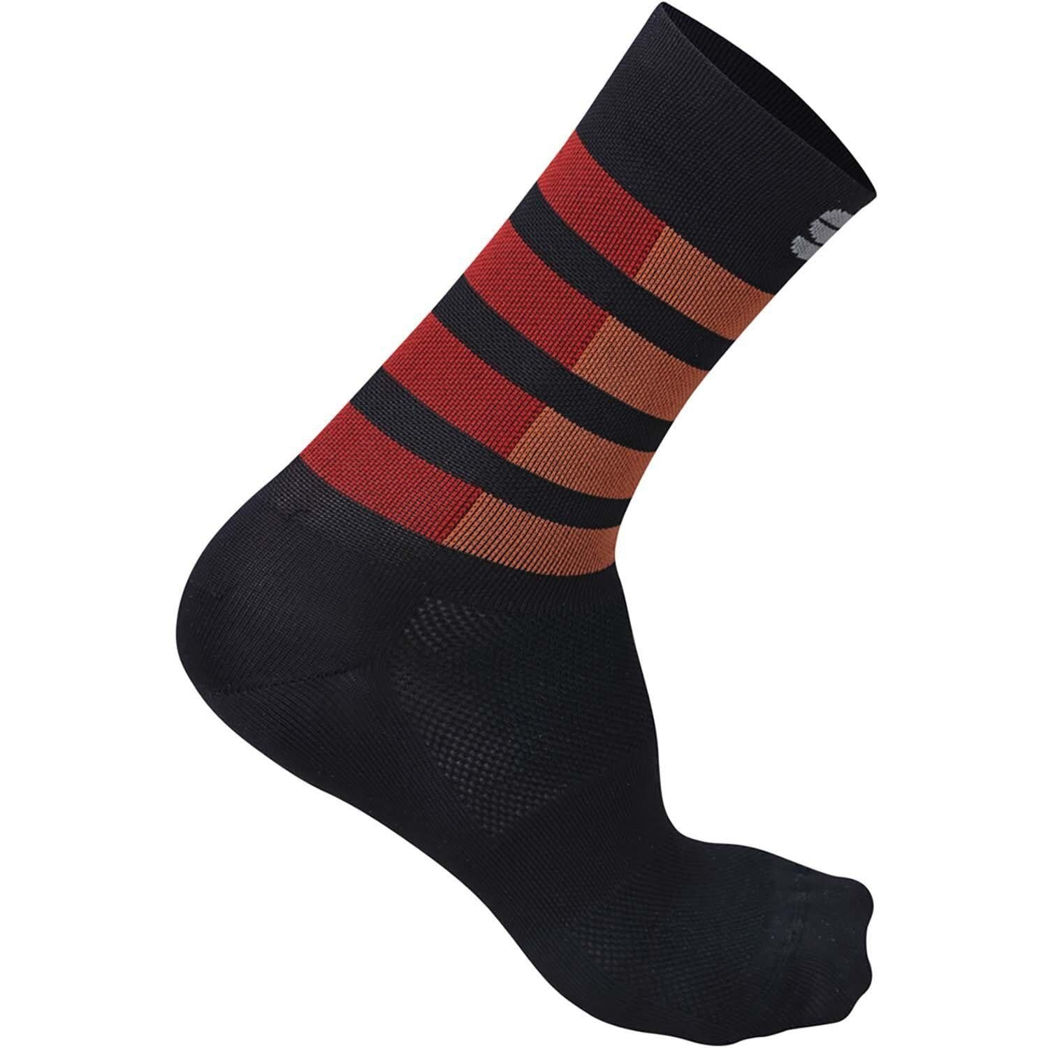 Sportful-Sportful Mate Socks-Black/Fire Red/Orange SDR-S-SF2009300412-saddleback-elite-performance-cycling
