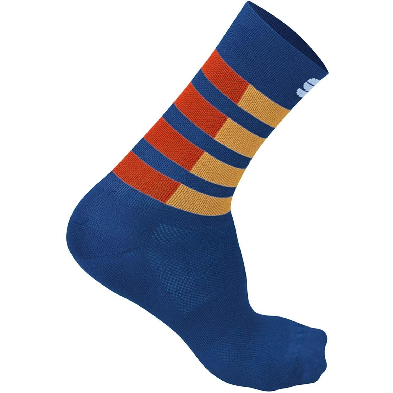 Sportful-Sportful Mate Socks-Blue Twilight/Fire Red/Gold-S-SF2009300612-saddleback-elite-performance-cycling